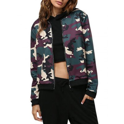 Women Casual Camouflage Coat