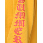best Women Chic Front Pocket Printed Yellow Hoodie