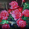 40 x 48cm 5D Rose Vase Painting Cross Stitch Tool deal
