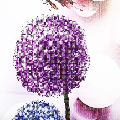 40 x 80cm 5D Butterfly Flower Painting Cross Stitch Tool