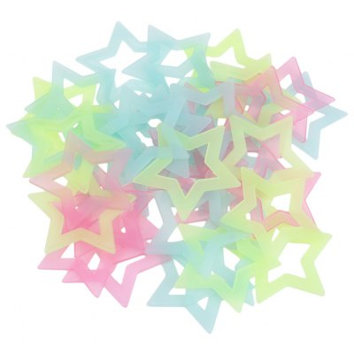 40pcs DIY Colorful Wall Star Luminous Sticker