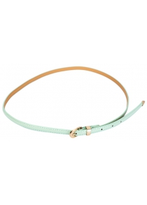 Candy Color PU Ladies Thin Pin Buckle Belt