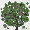cheap 30 x 30cm 5D Fortune Tree Painting Cross Stitch Tool