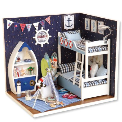 CUTEROOM H - 011 - A DIY Wooden House Miniature Box Kit