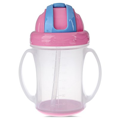 240ML BPA Free Food Grade PP Baby Handle Sippy CupsFeeding<br>240ML BPA Free Food Grade PP Baby Handle Sippy Cups<br><br>Item Type: Bottles<br>Material: PP<br>Material Features: BPA Free<br>Capacity(ml): 240ml<br>Product weight: 0.087 kg<br>Package weight: 0.109 kg<br>Product size (L x W x H): 10.50 x 7.80 x 14.00 cm / 4.13 x 3.07 x 5.51 inches<br>Package size (L x W x H): 1.00 x 1.00 x 1.00 cm / 0.39 x 0.39 x 0.39 inches<br>Package Content: 1 x Sippy Cup