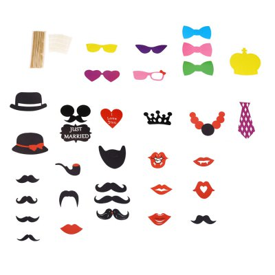 33pcs Colorful Photo Booth Props Decoration