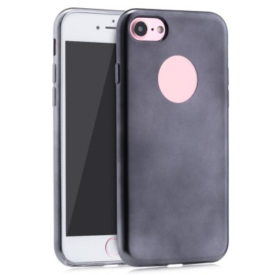 Frosted Electroplate Plating TPU Back Cover Case for iPhone 7 4.7 inch