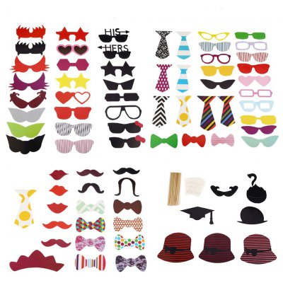 76pcs Colorful Photo Shooting Booth Props Decoration