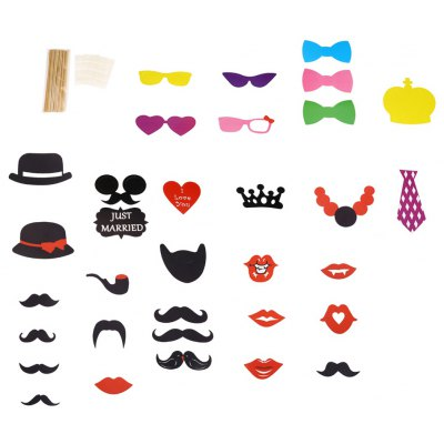 33pcs Colorful Photo Shooting Booth Props Decoration
