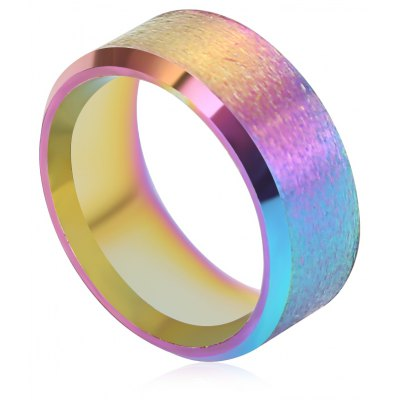 Romantic Double Bevel Dumb Face Stainless Steel Ring