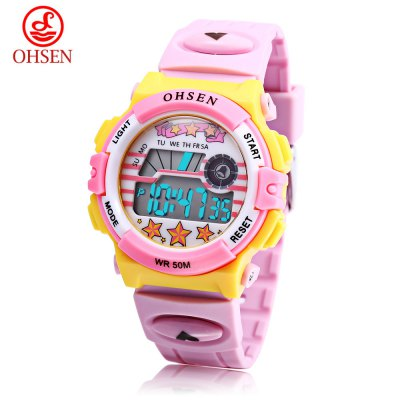 OHSEN 1603 Kids LED Digital Watch