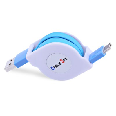 Retractable Type-C Fast Charging Data Cable 1M