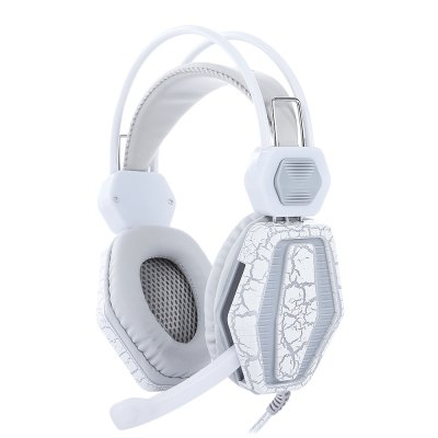 Adjustable Stereo Gaming Headset White Headphones