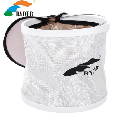 RYDER C4008 Collapsible Folding Bucket Water Pail with Lid