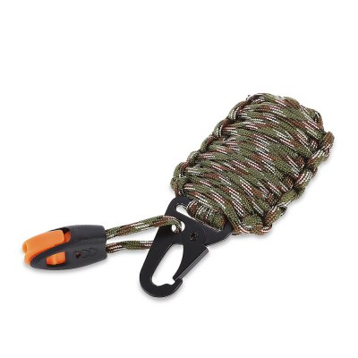 Paracord Survival Grenade Keychain with Carabiner