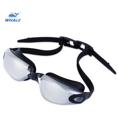 WHALE Adult Swimming Anti Fog Eyeglasses Goggles with Box