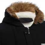 Draw String Male Warm Hooded Coat deal