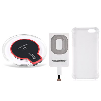 Qi Wireless Charger Charging Receiver Transparent Case