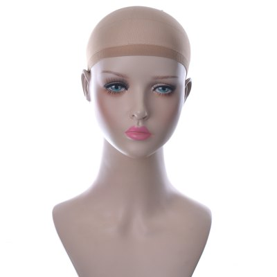 2pcs Flexible Breathable Free-size Roses Hair Mesh Net Cool Cap for Wig