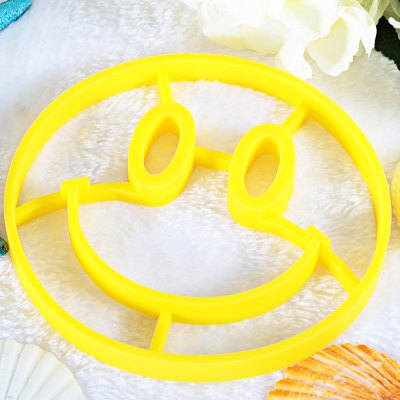 Funny Silicone Breakfast Egg Frying Mould Smiling Face Shape