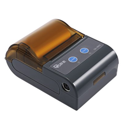 QS 5803 Mini Portable Bluetooth 4.0 PrinterOffice Electronics<br>QS 5803 Mini Portable Bluetooth 4.0 Printer<br><br>Type: Dot-matrix<br>Product weight: 0.249 kg<br>Package weight: 0.520 kg<br>Product Size(L x W x H): 10.00 x 7.20 x 4.20 cm / 3.94 x 2.83 x 1.65 inches<br>Package Size(L x W x H): 22.00 x 16.00 x 5.50 cm / 8.66 x 6.3 x 2.17 inches<br>Package Contents: 1 x Printer, 1 x Power Adapter, 1 x Data Cable, 1 x User Manual ( English and Chinese ), 1 x Test Paper