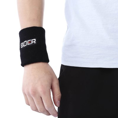 BOER Paired Elastic Wrist Toweling Band Bracer Support Guard