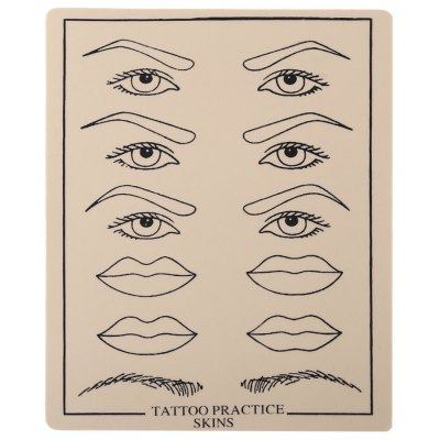 Eyebrow Eyeliner Lip Tattoo Practice Skins Silicone Fake Sheet