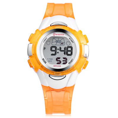 MINGRUI 8526013 Kids LED Digital WatchKids Watches<br>MINGRUI 8526013 Kids LED Digital Watch<br><br>Band Length: 7.48 inch<br>Band Material Type: Plastic<br>Band Width: 14mm<br>Case material: Plastic<br>Case Shape: Round<br>Clasp type: Pin Buckle<br>Dial Diameter: 1.38 inch<br>Dial Display: Digital<br>Dial Window Material Type: Plastic<br>Feature: Auto Date,Back Light,Chronograph,Date,Day,Led Display,Luminous<br>Gender: Children<br>Movement: Digital<br>Style: Sport<br>Water Resistance Depth: 30m<br>Product weight: 0.024 kg<br>Package weight: 0.096 kg<br>Product Size(L x W x H): 22.50 x 3.50 x 1.30 cm / 8.86 x 1.38 x 0.51 inches<br>Package Size(L x W x H): 7.50 x 7.50 x 7.50 cm / 2.95 x 2.95 x 2.95 inches<br>Package Contents: 1 x MINGRUI 8526013 Kids LED Digital Watch