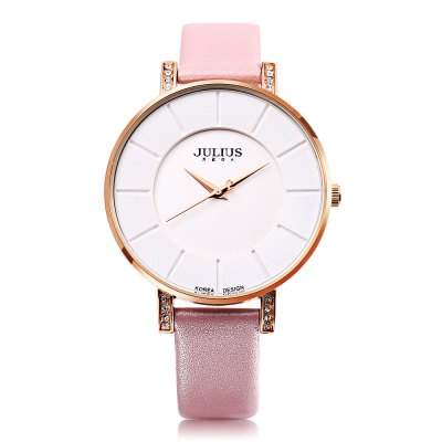 JULIUS JA - 766L Unisex Quartz WatchUnisex Watches<br>JULIUS JA - 766L Unisex Quartz Watch<br><br>Band Length: 7.49 inch<br>Band Material Type: Genuine Leather<br>Band Width: 18mm<br>Case material: Alloy<br>Case Shape: Round<br>Clasp type: Pin Buckle<br>Dial Diameter: 1.49 inch<br>Dial Display: Analog<br>Dial Window Material Type: Hardlex<br>Gender: Men,Women<br>Movement: Quartz<br>Style: Business<br>Water Resistance Depth: 30m<br>Product weight: 0.032 kg<br>Package weight: 0.135 kg<br>Product Size(L x W x H): 23.00 x 4.00 x 0.70 cm / 9.06 x 1.57 x 0.28 inches<br>Package Size(L x W x H): 8.50 x 8.50 x 7.00 cm / 3.35 x 3.35 x 2.76 inches<br>Package Contents: 1 x JULIUS JA - 766L Unisex Quartz Watch