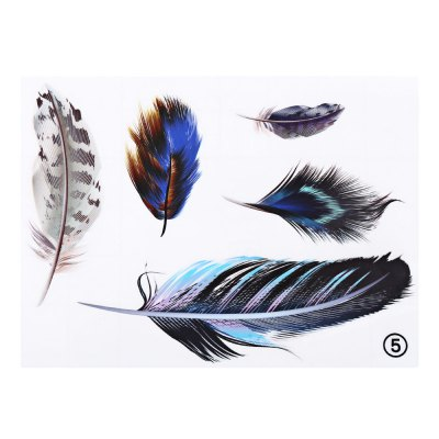 Feather Car Sticker Cover Decal Decoration