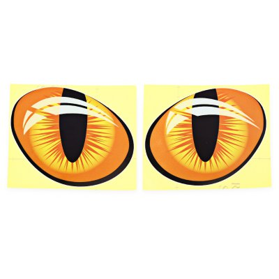Paired Cat Eye Car Sticker Decal Decoration Paster