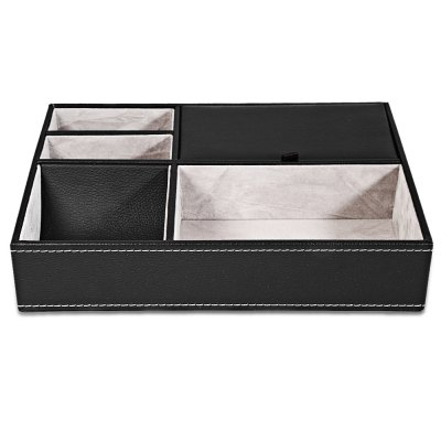 5 Mixed Slots Multifunctional Leather Watch Display Box