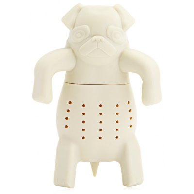 Cute Novelty Silicone Bulldog Shape Mesh Tea Strainer