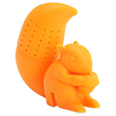 Cute Novelty Silicone Squirrel Shape Mesh Tea Strainer