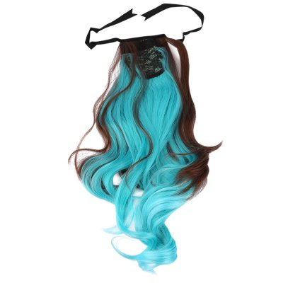 Strap Type Gradient Mixed Colors Synthetic Wig Ponytail