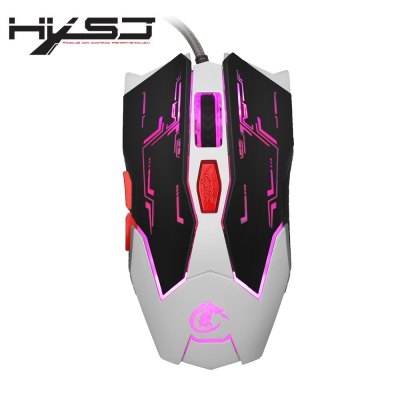 HXSJ X100 Wired LED Game Mouse with Six Buttons