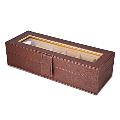 6 Slots Multifunctional Leather Watch Display BoxWatch Accessories<br>6 Slots Multifunctional Leather Watch Display Box<br><br>Item Height: 2.95 inch<br>Item Length: 11.81 inch<br>Item Width: 4.33 inch<br>Material: Leather<br>Product weight: 0.629 kg<br>Package weight: 0.773 kg<br>Product Size(L x W x H): 30.00 x 11.00 x 7.50 cm / 11.81 x 4.33 x 2.95 inches<br>Package Size(L x W x H): 31.00 x 10.50 x 13.50 cm / 12.2 x 4.13 x 5.31 inches<br>Package Contents: 1 x Watch Box