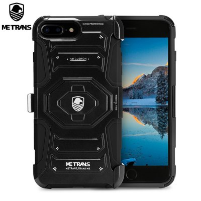 Metrans Three-piece Case Anti-knocking Anti-falling Cover for iPhone 7 Plus