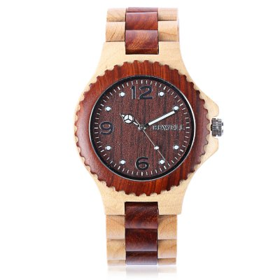 BEWELL ZS-W038A Sandalwood Unisex Quartz Watch