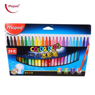 Maped Watercolor Brush Pen Water Based Marker 24 Colors
