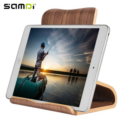SAMDI Wood Tablet Computer Holder Wooden Stand for iPad