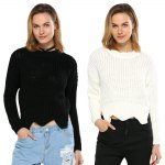 Women Brief Knitted Pullover photo