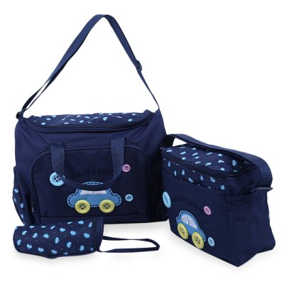 3pcs Multifunctional Car Pattern Zipper Cloth Mummy BagsBaby Carriers &amp; Backpacks<br>3pcs Multifunctional Car Pattern Zipper Cloth Mummy Bags<br><br>Item Type: Diaper Bags<br>Style: Suits<br>Closure Type: Zipper<br>Item Size: Medium(30-50cm)<br>Gender: Unisex<br>Material: Canvas<br>Feature: Washable<br>Season: All seasons<br>Adjustable: No<br>Product weight: 0.750 kg<br>Package Contents: 1 x Big Mummy Bag, 1 x Medium Bag, 1 x Feeding Bottle Bag