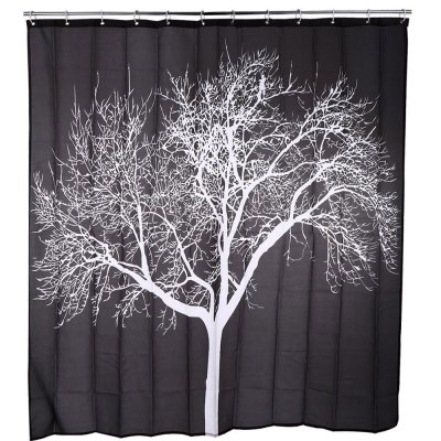 Snow Tree Pattern Water-resistant Shower Curtain