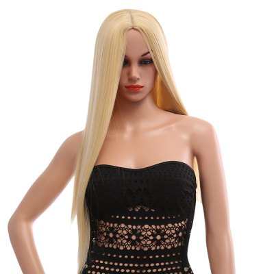 Stylish Long Straight Central Parting Synthetic Wigs Colors Hair