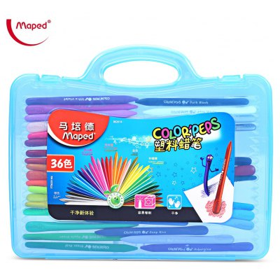 Maped 36 Colors Plastic Crayon with Box