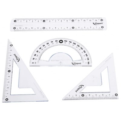 Maped Ruler / Triangular Plate / Protractor