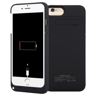 4000mAh External Battery Power Bank Charger Cover with Kickstand for iPhone 6 Plus / 6S Plus / 7 Plus 5.5 inch