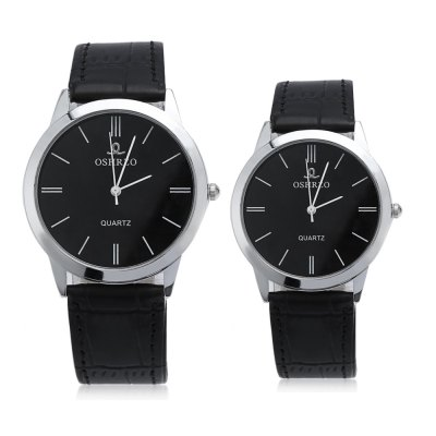 OSHRZO Couple Quartz WatchCouples Watches<br>OSHRZO Couple Quartz Watch<br><br>Band Length: men: 7.56 inch, women: 7.01 inch<br>Band Material Type: Leather<br>Band Width: men: 18mm, women: 16mm<br>Case material: Alloy<br>Case Shape: Round<br>Clasp type: Pin Buckle<br>Dial Diameter: men: 1.57 inch, women: 1.11 inch<br>Dial Display: Analog<br>Dial Window Material Type: Glass<br>Gender: lovers,Men,Women<br>Movement: Quartz<br>Style: Simple<br>Product weight: 0.047 kg<br>Package weight: 0.068 kg<br>Product Size(L x W x H): 23.50 x 6.80 x 0.70 cm / 9.25 x 2.68 x 0.28 inches<br>Package Size(L x W x H): 24.50 x 7.80 x 1.70 cm / 9.65 x 3.07 x 0.67 inches<br>Package Contents: 1 x Couple Watch