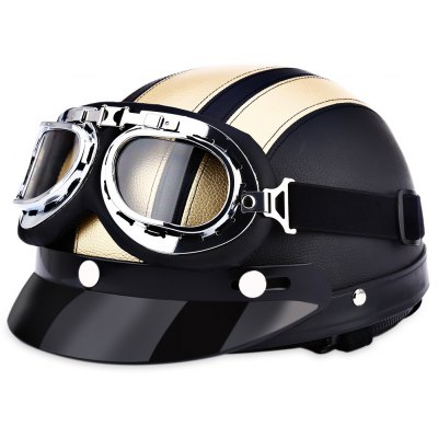 Retro Style Motorcycle Helmet 54 - 60CM with Goggles Necklet
